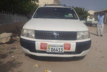 Gaadhi Toyota Probox iib ah Hargeisa