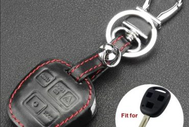 Jingyuqin Leather KeyChain Car Key Case Cover For Toyota Tarago RAV4 Corolla Camry Celica Avalon for LEXUS RX300 ES300